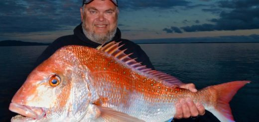 Fishing-for-mega-red-snapper-at-Port-Welshpool-See-the-Simrad-sounder-at-work