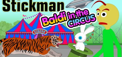 Stickman-mentalist.-School-evil.-Hike-to-the-circus-with-Baldy