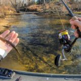 Winter-Fishing-Hot-Water-Spillway-With-Ultra-Clear-Water-That39s-LOADED-With-Fish