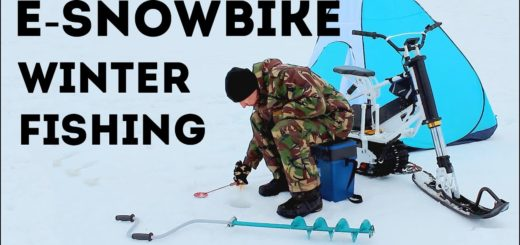 Electric-snowmobile-winter-fishing
